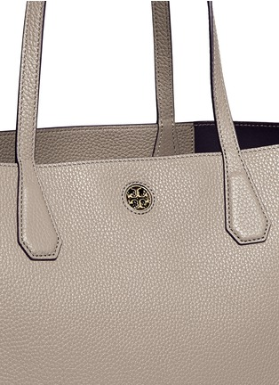 Detail View - Click To Enlarge - Tory Burch - 'Perry' pebbled leather tote