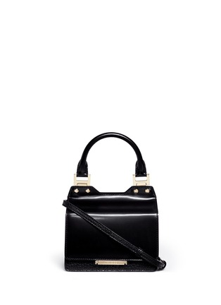 Main View - Click To Enlarge - Jimmy Choo - 'Amie S' small mixed leather boxy tote