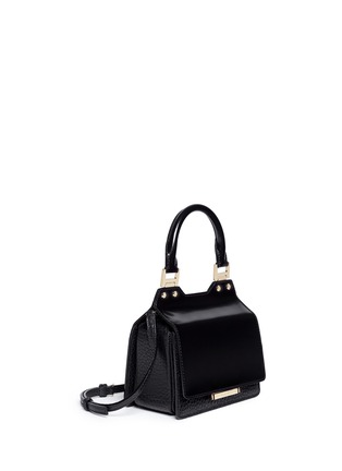 Figure View - Click To Enlarge - Jimmy Choo - 'Amie S' small mixed leather boxy tote