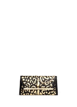 Main View - Click To Enlarge - Jimmy Choo - 'Margot' metallic leopard leather clutch