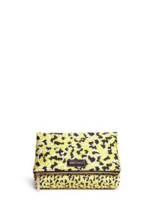 Main View - Click To Enlarge - Jimmy Choo - 'Nyla' floral jacquard foldover clutch