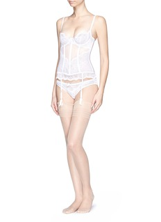 L'AGENT 'Vanesa' stretch lace tulle basque