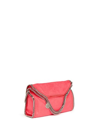 Front View - Click To Enlarge - Stella McCartney - 'Falabella' shaggy deer foldover chain tote