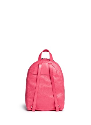 Back View - Click To Enlarge - Stella McCartney - 'Falabella' mini shaggy deer chain backpack