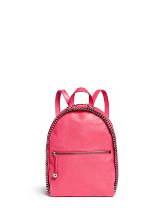 Main View - Click To Enlarge - Stella McCartney - 'Falabella' mini shaggy deer chain backpack