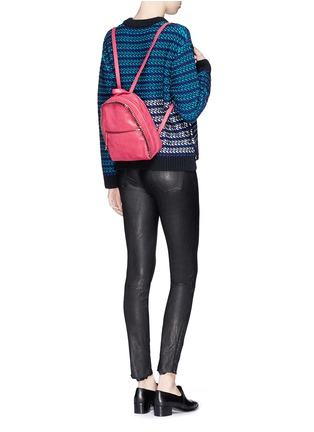 Figure View - Click To Enlarge - Stella McCartney - 'Falabella' mini shaggy deer chain backpack