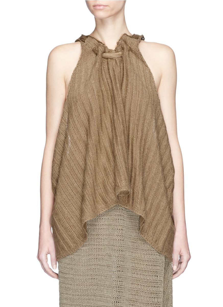 Chunky stitch linen knit top by Stella McCartney