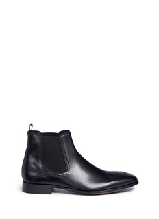 Rolando Sturlini 'City' brogue leather Chelsea boots