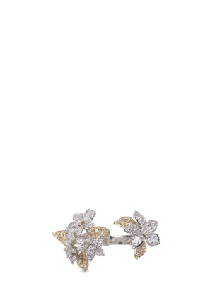 Detail View - Click To Enlarge - Anabela Chan - 'Bellflower' diamond 18k gold ring