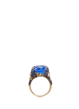 Detail View - Click To Enlarge - Anabela Chan - 'Blue Cinderella' sapphire diamond 18k gold cocktail ring