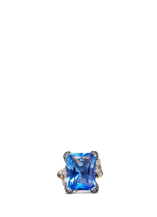 Main View - Click To Enlarge - Anabela Chan - 'Blue Cinderella' sapphire diamond 18k gold cocktail ring