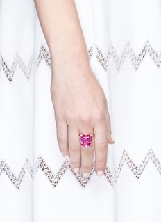 Anabela Chan 'Rose Cinderella' sapphire diamond 18k gold cocktail ring