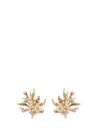 Detail View - Click To Enlarge - Anabela Chan - 'Posie' detachable canary diamond 18k gold earrings