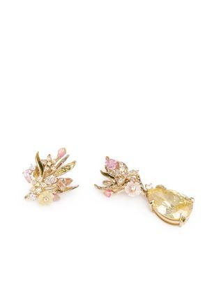 - Anabela Chan - 'Posie' detachable canary diamond 18k gold earrings