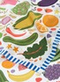 Detail View - Click To Enlarge - Karen Mabon - 'Healthy' fruit and vegetable print silk scarf
