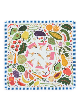 Main View - Click To Enlarge - Karen Mabon - 'Healthy' fruit and vegetable print silk scarf