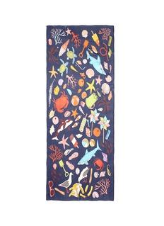 Karen Mabon'Beachcombing' silk georgette scarf
