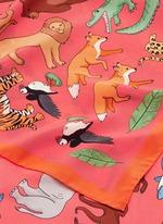 'Noah's Ark' silk crepe de Chine scarf