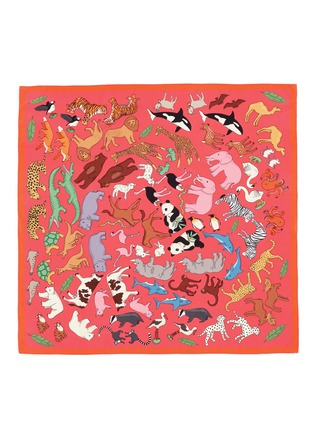 Main View - Click To Enlarge - Karen Mabon - 'Noah's Ark' silk crepe de Chine scarf