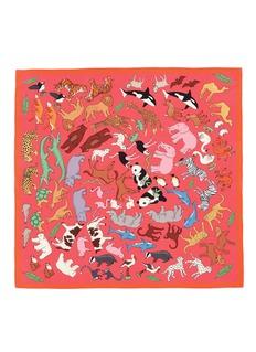 Karen Mabon'Noah's Ark' silk crepe de Chine scarf