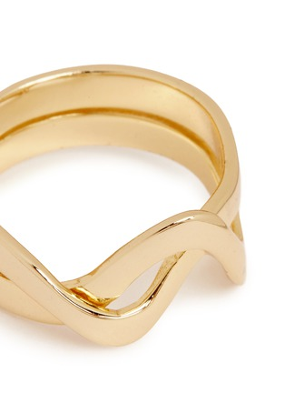 Detail View - Click To Enlarge - Elizabeth and James - 'Sueno' wavy double band ring