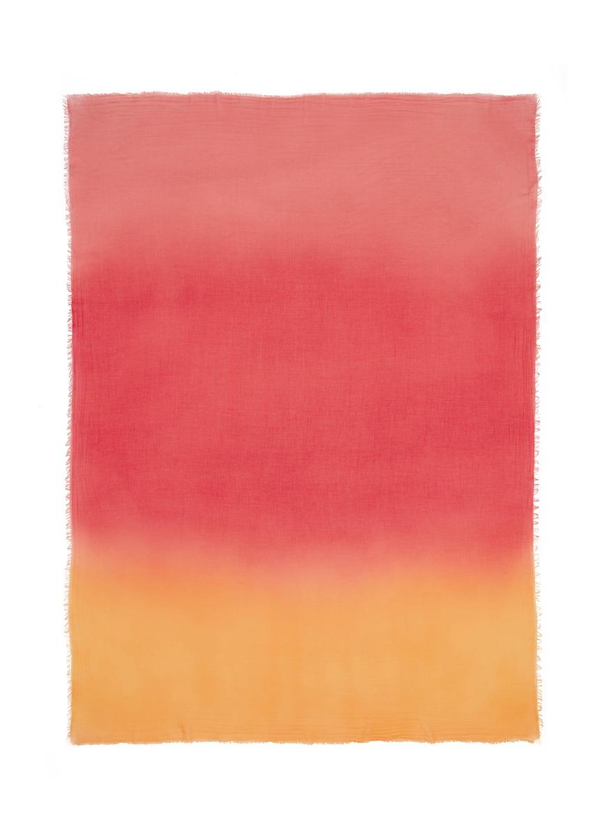 Melania gradient cotton scarf by Faliero Sarti