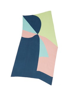 Faliero Sarti 'Aquiloni' abstract geometric print silk scarf