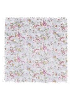 FALIERO SARTISpring花卉印花羊绒混丝围巾