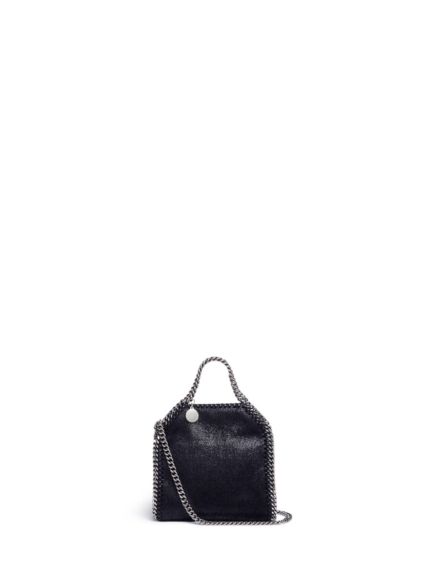 Falabella tiny shaggy deer crossbody chain tote by Stella McCartney