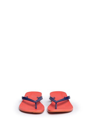 Front View - Click To Enlarge - Melissa - x Ipanema colourblock flip flops