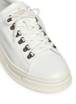 Leather trekking sneakers