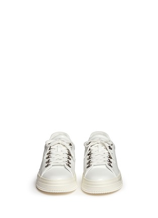 Front View - Click To Enlarge - Valentino - Leather trekking sneakers