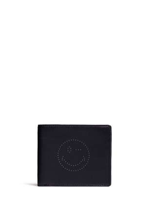 Anya Hindmarch - 'Wink' perforated leather bifold wallet