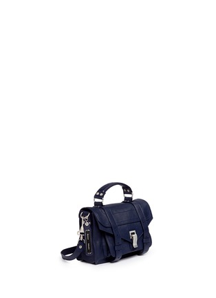 Front View - Click To Enlarge - Proenza Schouler - 'PS1' tiny leather satchel