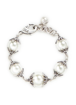 Main View - Click To Enlarge - Lulu Frost - 'Electra' pavé glass pearl bracelet