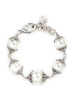 'Electra' pavé glass pearl bracelet