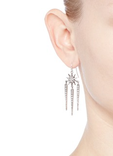 Lulu Frost 'Nova' glass crystal pavé drop earrings
