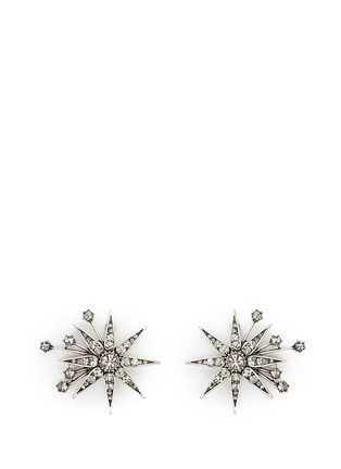Main View - Click To Enlarge - Lulu Frost - 'Nova' glass crystal pavé star stud earrings