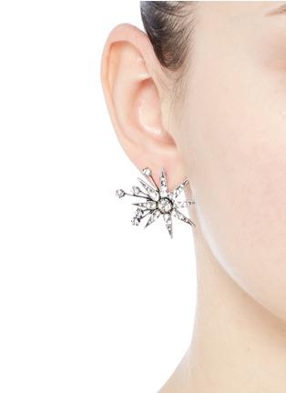 Figure View - Click To Enlarge - Lulu Frost - 'Nova' glass crystal pavé star stud earrings
