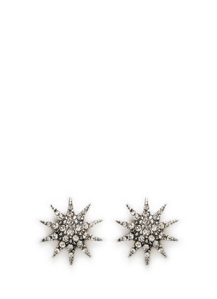 Main View - Click To Enlarge - Lulu Frost - 'Electra' glass crystal pavé star stud earrings