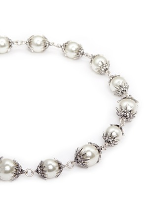 Detail View - Click To Enlarge - Lulu Frost - 'Electra' pavé glass pearl necklace
