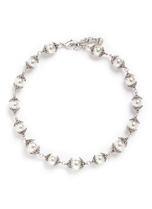 Main View - Click To Enlarge - Lulu Frost - 'Electra' pavé glass pearl necklace