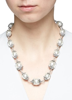 Lulu Frost 'Electra' pavé glass pearl necklace