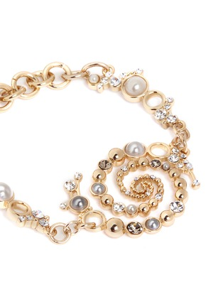 Detail View - Click To Enlarge - Lulu Frost - 'Infinite' glass crystal faux pearl swirl bracelet