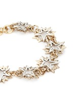 'Cosmic' asymmetric star brass bracelet