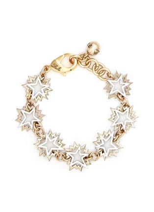 Main View - Click To Enlarge - Lulu Frost - 'Cosmic' asymmetric star brass bracelet
