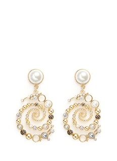 Lulu Frost 'Infinite' glass crystal swirl drop earrings