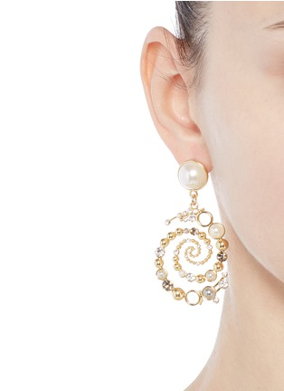 Figure View - Click To Enlarge - Lulu Frost - 'Infinite' glass crystal swirl drop earrings