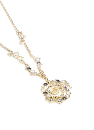 Lulu Frost-'Infinite' glass crystal swirl pendant necklace
