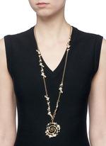 'Infinite' glass crystal swirl pendant necklace
